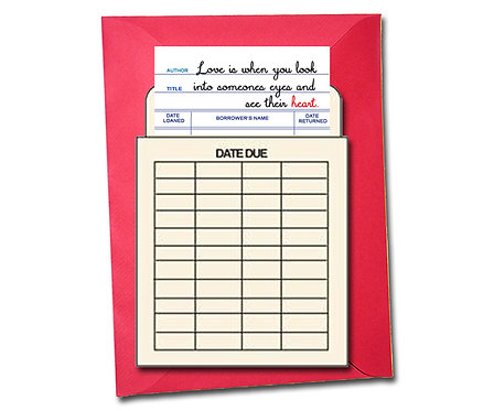 Love is when you look ino someones eyes ... - Book Pouch Card