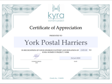 A thank you from Kyra