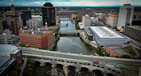 Genesee River through Rochester, NY