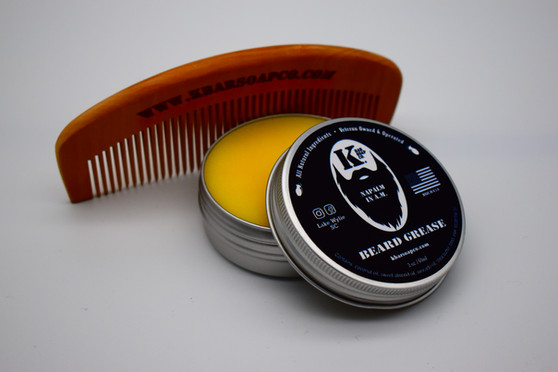 K Bar Soap Co Beard Grease and Beard Comb