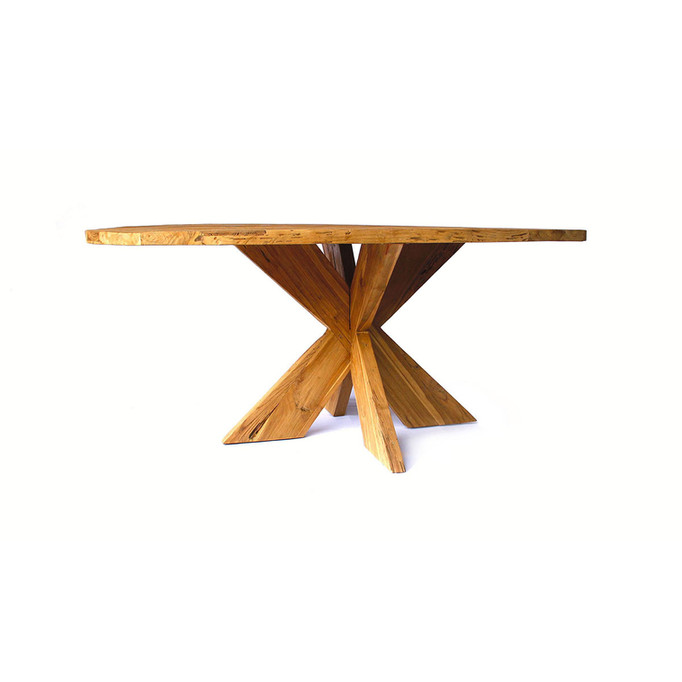 Oval Dining Table in Recycled Teak