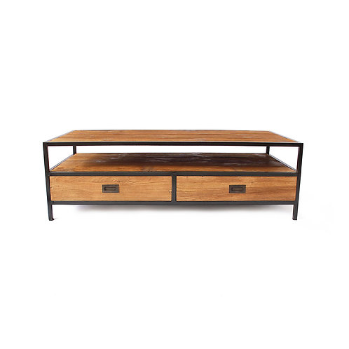 Side Table - Industrial Chic - Recycled Teak