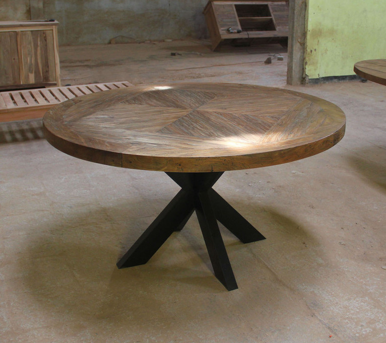 round industrial dinning table