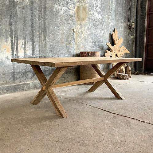 Dining Table - Carpenter X Legs - Recycled Teak