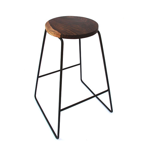 Fifty First - Round Rosewood Counter Stool