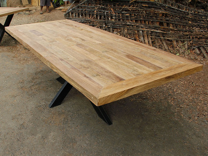 Industrial Chic Recycled Teak Table