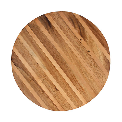 Three Wood Striped Platter - Rosewood / Pine / Teak
