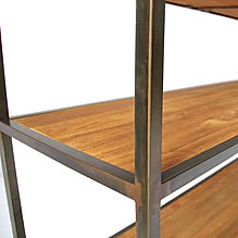 Industrial furntiture with rustic teak finish and rustic black iron