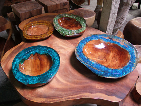 Wood & Resin Decorative Bowl