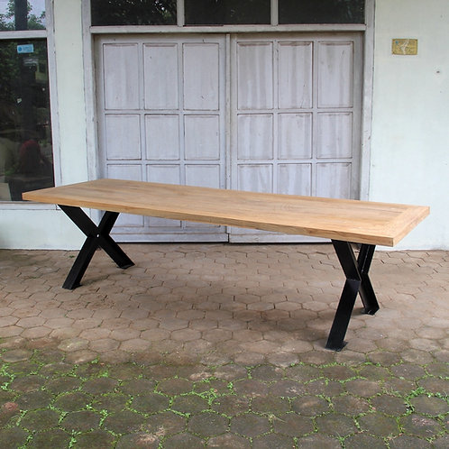 Industrial Chic Dining Table - Factory X Legs / Recycled Teak