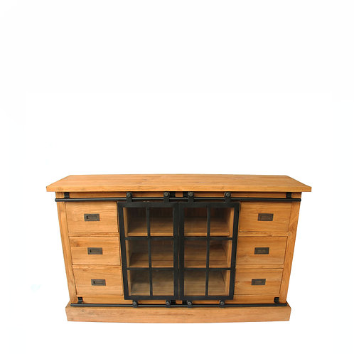Farmhouse / Industrial touch - Teak Sideboard Cabinet