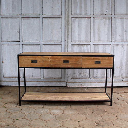 Industrial Chic Console - Recycled Teak / Iron