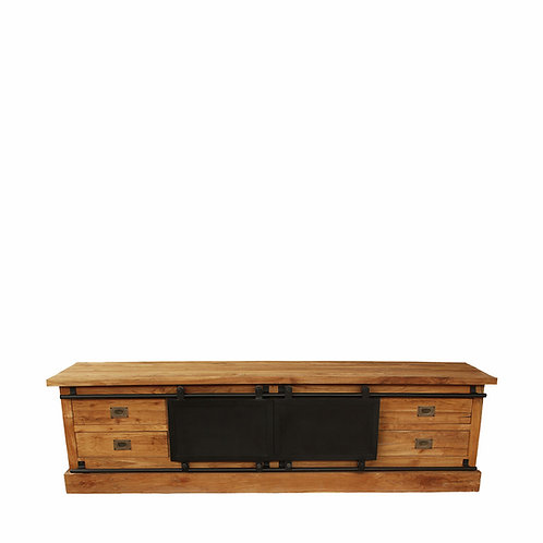 Farmhouse / Industrial touch - Teak Tv Stand