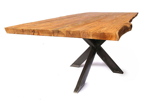 Industrial recycled teak design dining table
