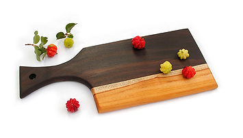 Wooden cutting board/serving tray kitchen collection
