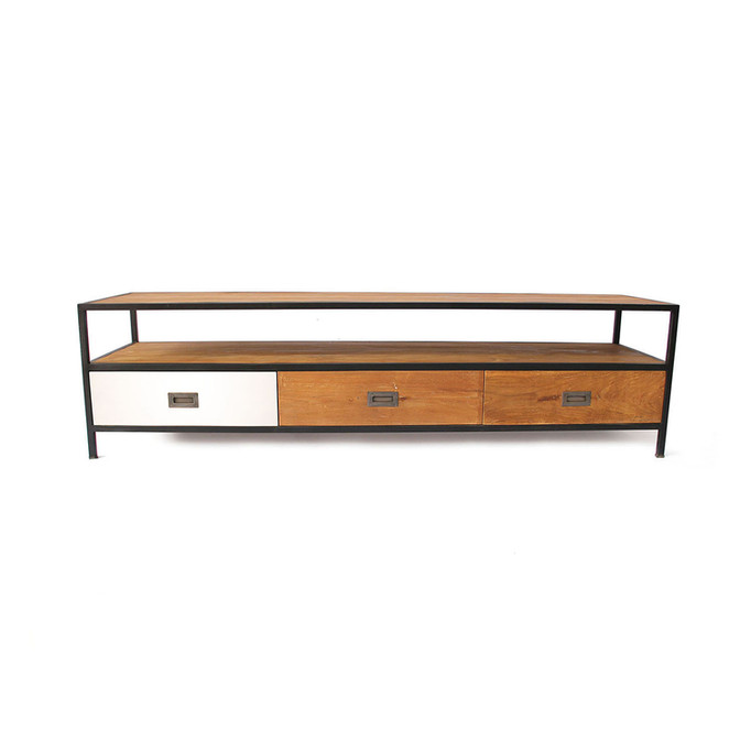 Customised Industrial Chic Tv Cabinet