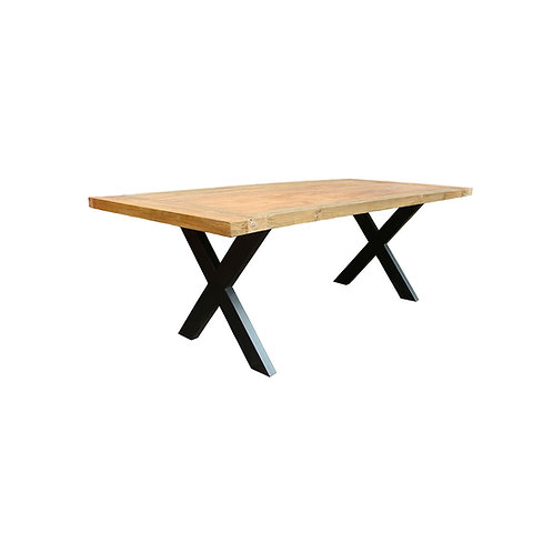 Dining Table - Thin X Legs / Recycled Teak