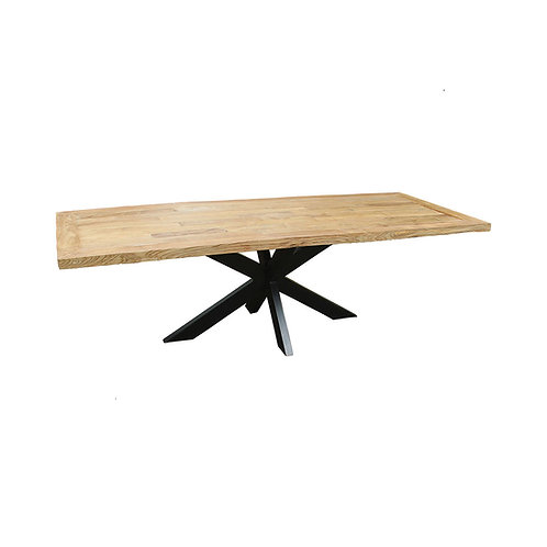 Dining Table - Spider Legs / Industrial Chic / Recycled Teak