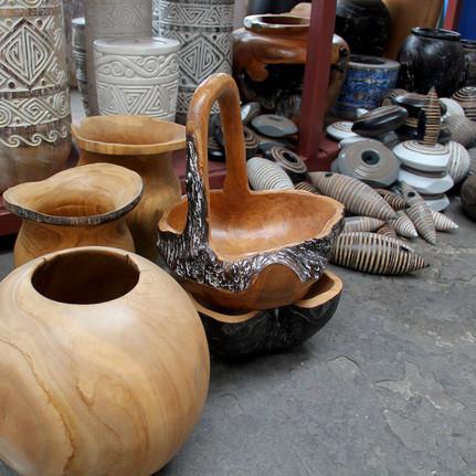 Wood handcraft bowls
