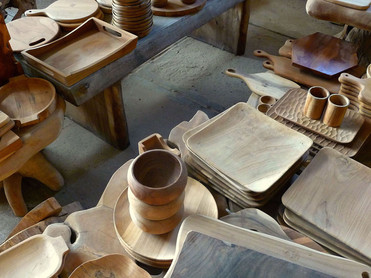 Wooden home accessories in central java