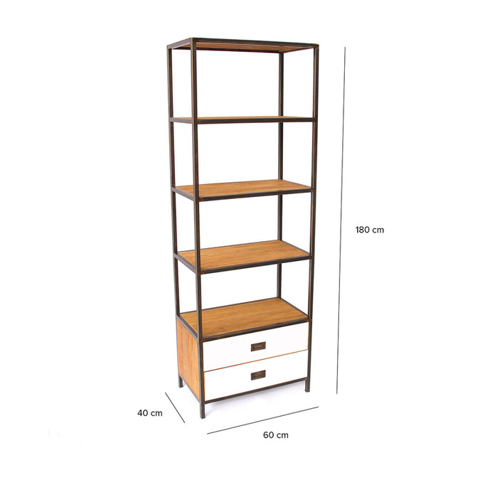 Customised Industrial Chic Tall Bookcase