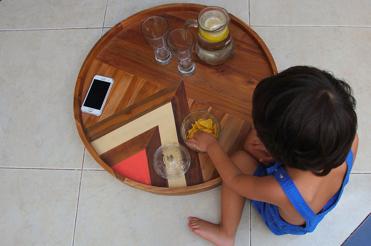 Circled - Two-sided Wooden Serving Tray