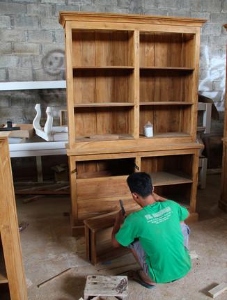 Teak showcase furniture