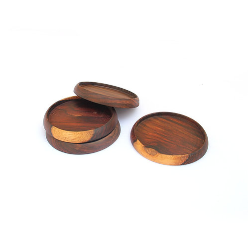 Set of Rosewood Coasters