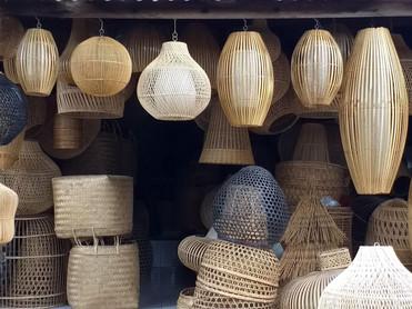 Bali rattan lapmshade design