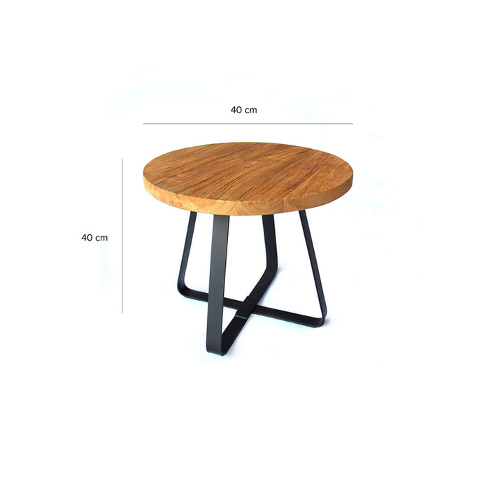 Round Industrial Chic Table