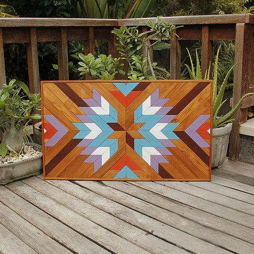 'L'étoile' - Wooden Mosaic Wall Art