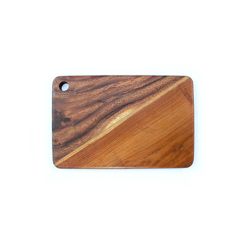 Two Wood Striped Tray - Teak / Suar
