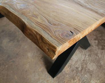 Rustic Finishing on Teak Table