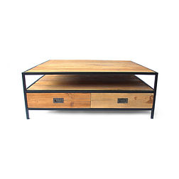 industrial furniture recycled teak and iron collection