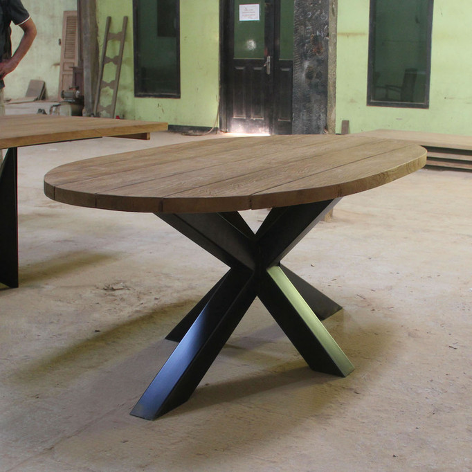 little industrial table