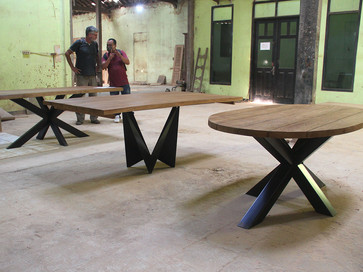 industrial chic table collection