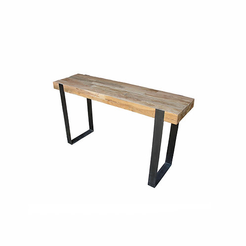 Console Table - U-Shaped Legs / Industrial Chic /Recycled Teak