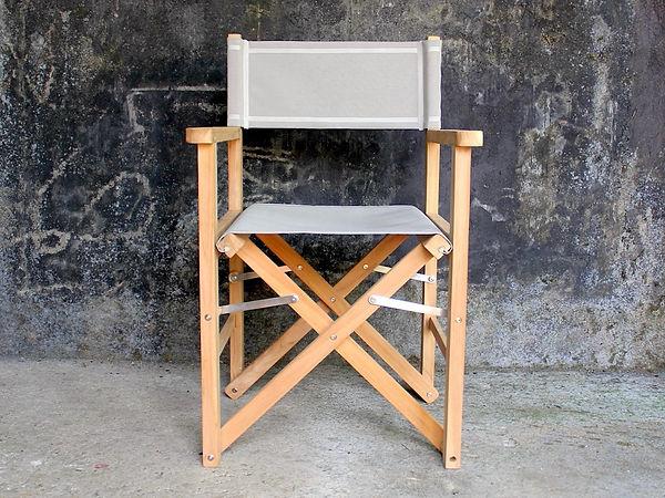 Jepara teak director's chair