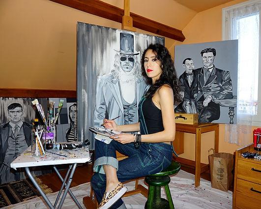 Houda Haddani Artiste Paris Painting Pei