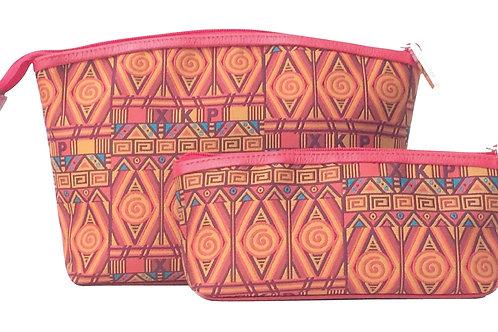 Kit Cosmetiquero Textil Terracota