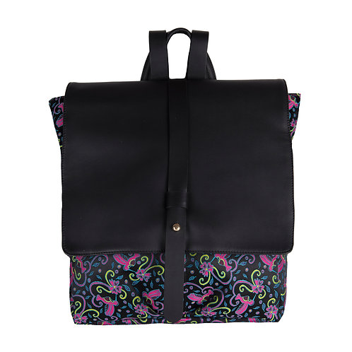 Back Pack Colibris Negro