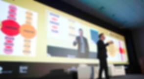 Jeff Chavez speaking in Peru