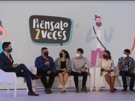 Juventudes, autoridades nacionales y la OIM en Panamá presentan la campaña Piénsalo 2 Veces