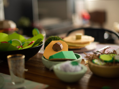 Kirigami en la mesa