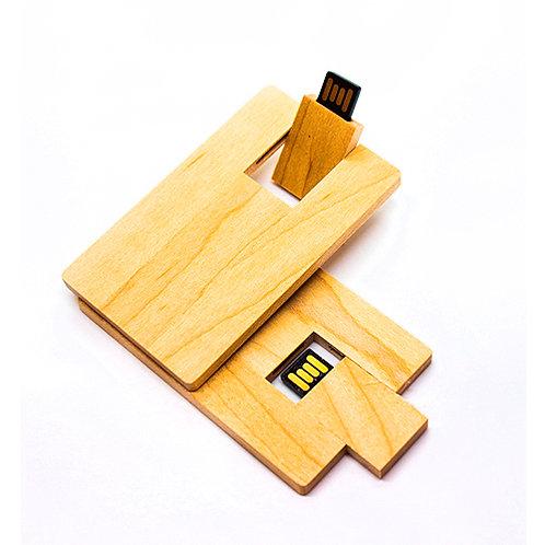 Eco-Pendrive tarjeta madera - 16GB - UDT-46 madera