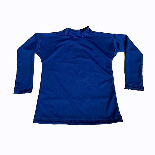 Remera Protección Filtro Solar UV 50+ M/ Larga Azul