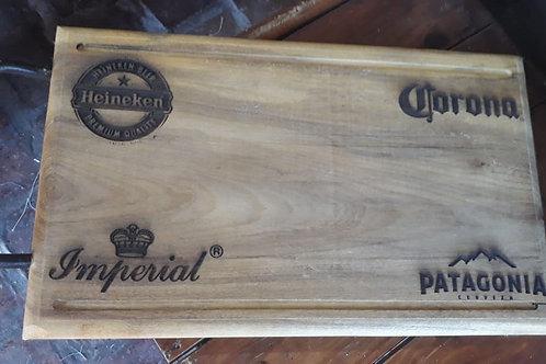 TABLA PARA SERVIR MADERA C/MANIJA HIERRO