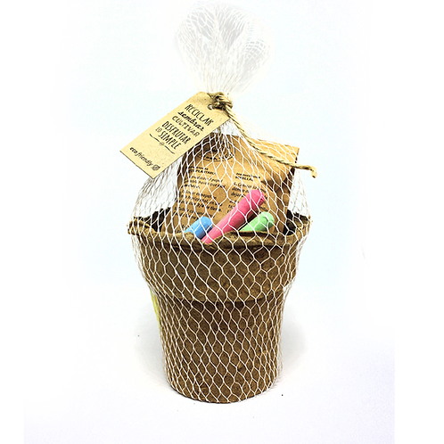 Maceta de turba de letonia y papel plantable con tizas - ECOKIT5