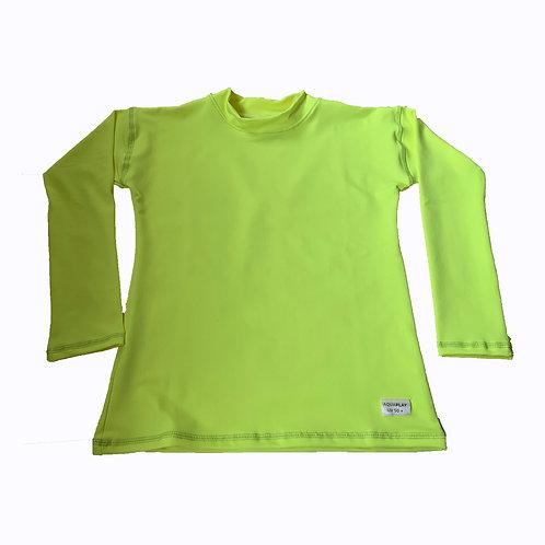 Remera Protección Filtro Solar UV 50+ M/ Larga Amarilla