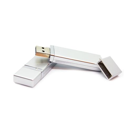 Pendrive plastico con detalle metalico - 8GB - PEN40